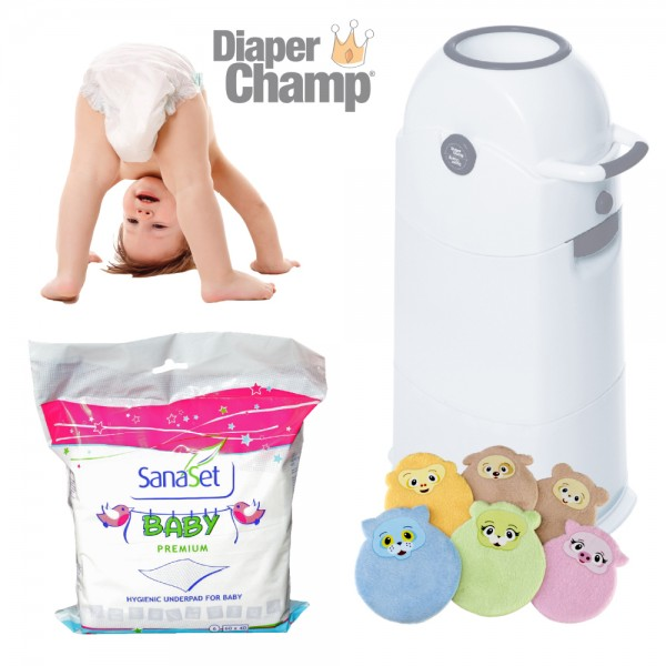 Windeleimer Diaper Champ Medium Vorteils-Set
